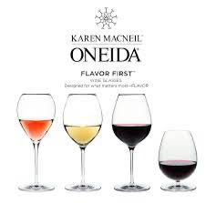Karen MacNeil Oneida Flavor First glassware set (1)